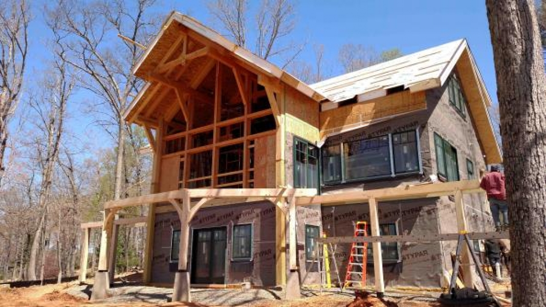 construction of timber frame home