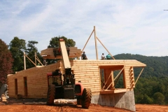 example of log custom home construction in Franklin County Virginia near Smith Mountain Lake VA