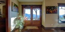 inviting foyer to Craftsman style home with gorgeous vista just beyond the front porch in Bedford County Virginia