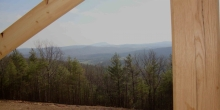 image of Blue Ridge mountain view from custom home built by Timber Ridge Craftsmen Inc near Smith Mountain Lake VA
