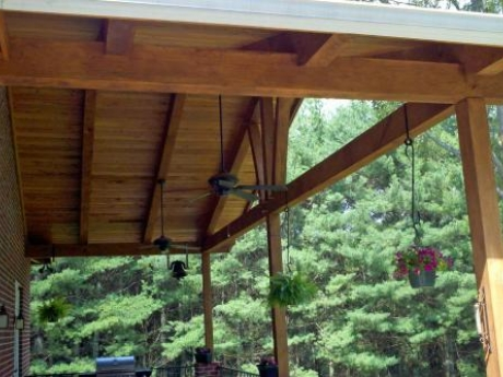 porch timber framing